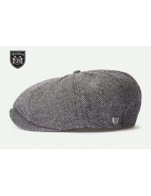 NEWSBOY BAGGY CAP HARRINGBONE GREYBLACK/WHITE - BRIXTON