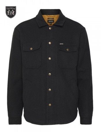 BOVERY LINED JACKET BLACK FLANNEL - BRIXTON