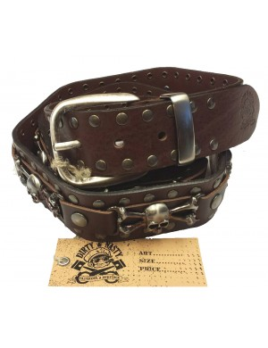 SKULL BROWN BELT
