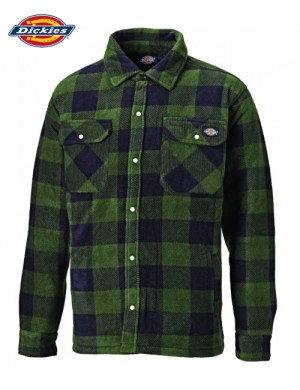 PORTLAND PADDED SHIRT GREEN - DICKIES
