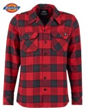 SACRAMENTO FLANNEL SHIRT RED- DICKIES