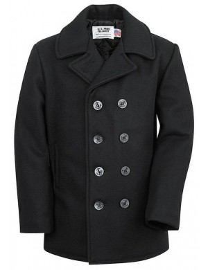 NAVAL PEA COAT SCHOTT MADE IN U.S.A.