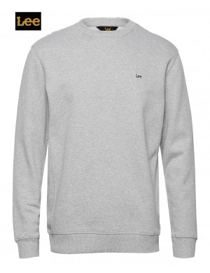 LEE PLAIN CREWNECK SWEATER GREY