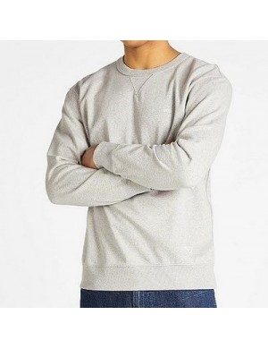 SUSTAINABLE CREW SWEATSHIRT IN GREY MELE - LEE