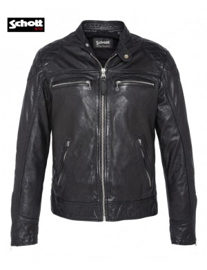 BIKER JACKET BLACK - SCHOTT